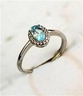 Beautiful Aquamarine Gemstone Ring