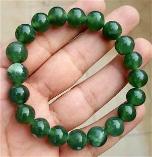 Natural jadeite Calibrated Beaded Bracelet