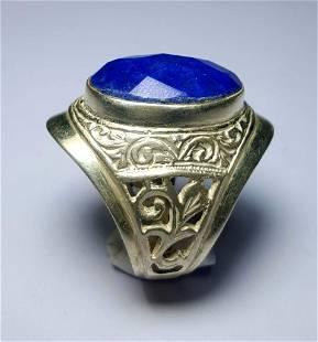 Top Quality Sterling Silver Lapis Ring