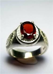 Rhodolite Garnet Sterling Silver Ladies Ring