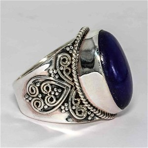 Lapis Lazuli 925 Solid Silver Jewelry Ring