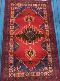 Kirman Hand knotted Woolen Afghan Rug