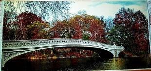 Autumn Bridge Wall Hanging Persian Rug