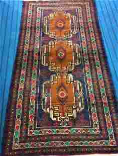 Hand Knotted Gulab Afghan Rug