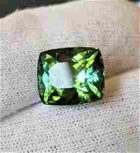 11 Carats Natural Green Tourmaline 13X12X9 mm