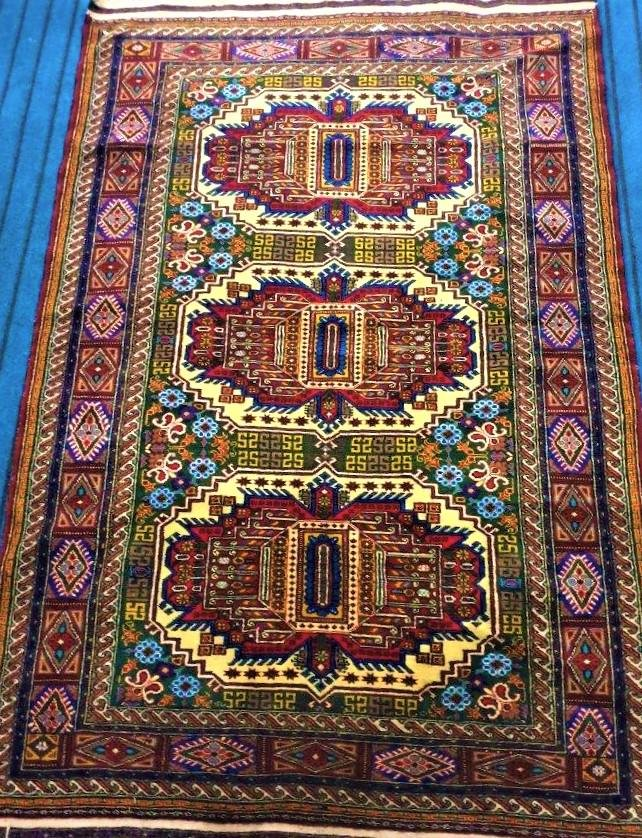 Beautiful Laghmani Handknotted Afghan Rug