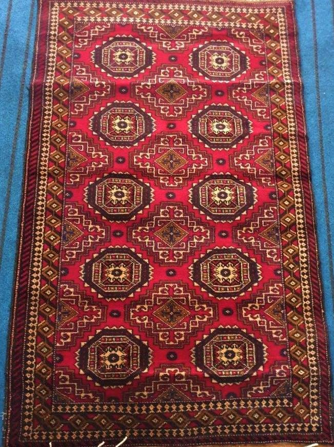 Persian Bokhara Hand Knotted Woolen Rug