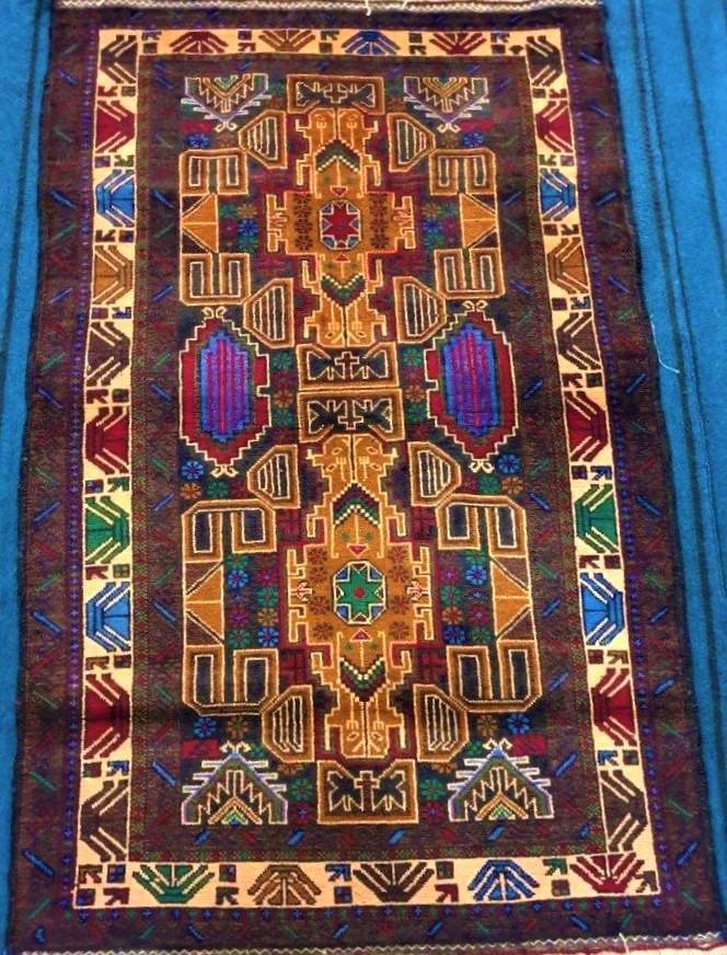 Hand Knotted Bukhara Rug