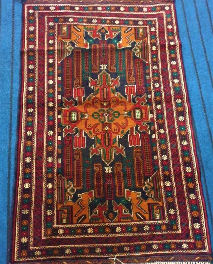 Hand Knotted Afghan Mauri Kabul Rug