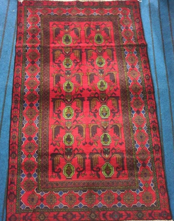 Hand Knotted Khal Mohammadi Afghan Rug