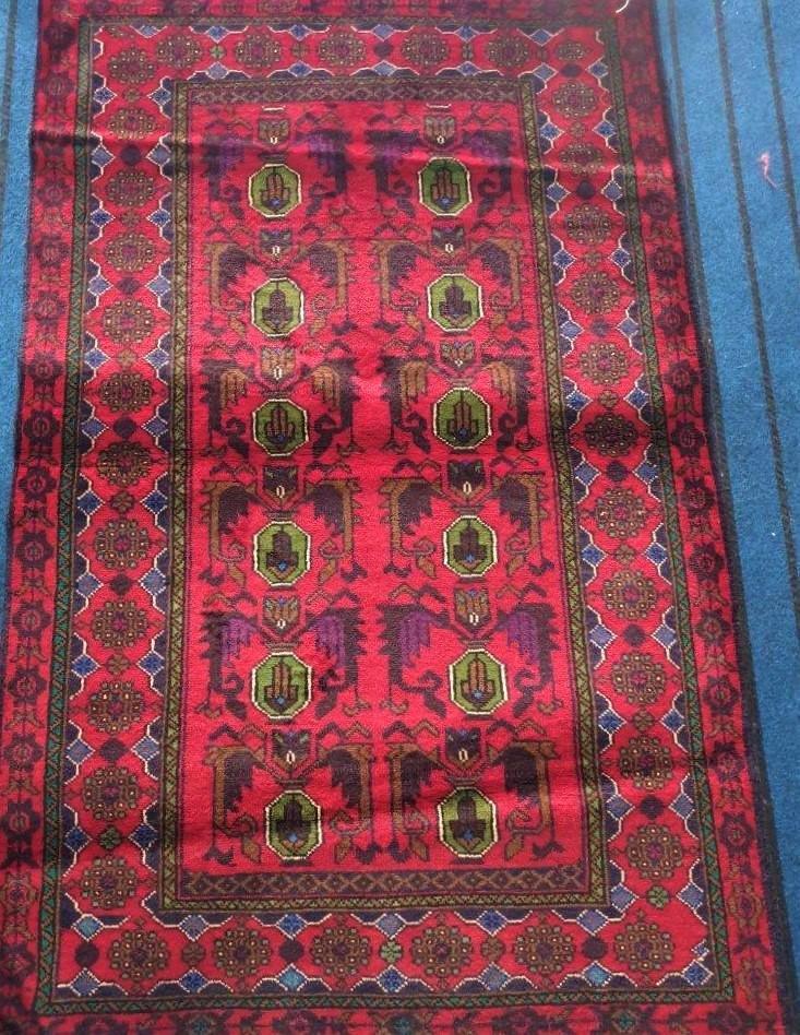 Lal Bukhara Handknotted Afghan Rug