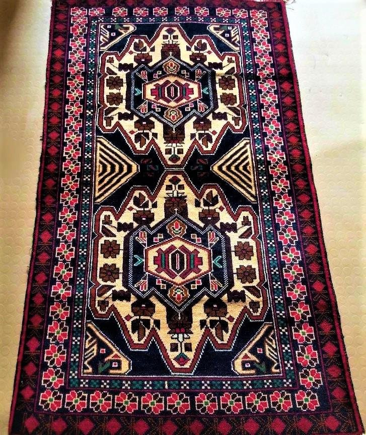 Hand Knotted Ancient Tribal Bokhara Afghan Rug