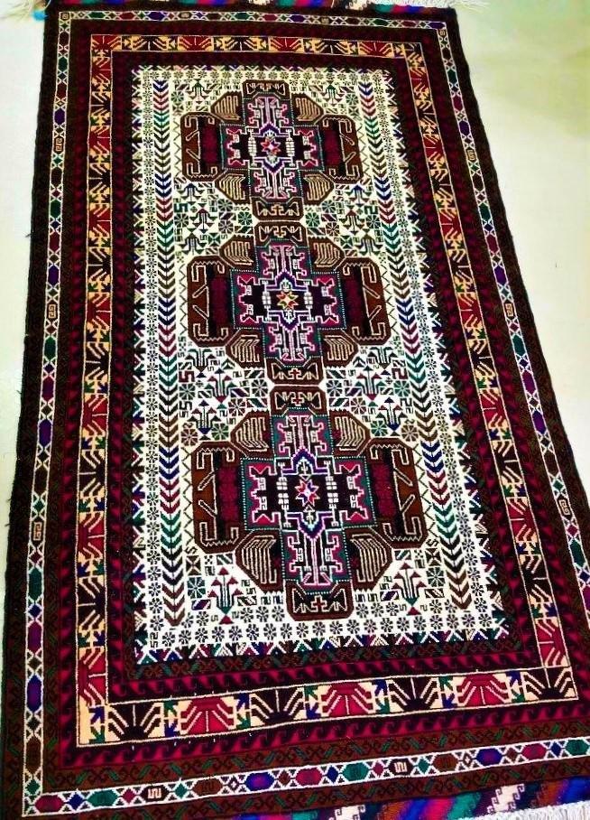 Bukhara Handknotted Wool Rug