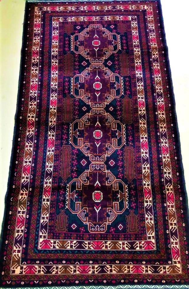 Hand Knotted Gulab Floral Handknotted Afghan Rug