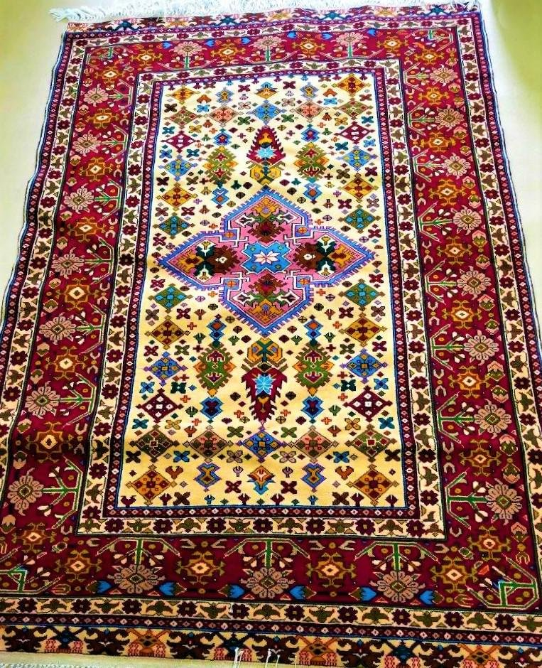 Hand Knotted Messi Bokhara Afghan Woolen Rug