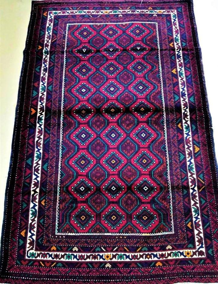 Hand Knotted Oriental Afghan Rug