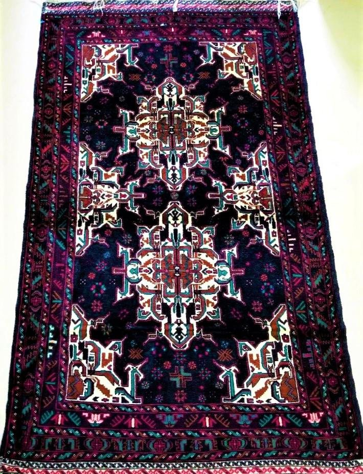 Hand Knotted Tribal Village Afghan Wool Rug