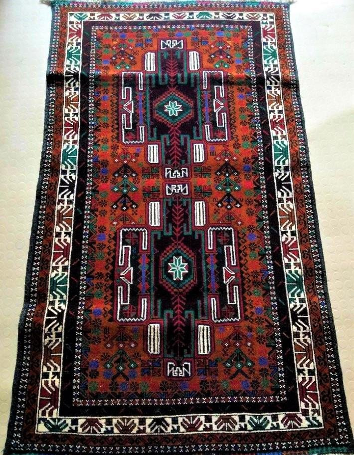 Handknotted Afghan Rug