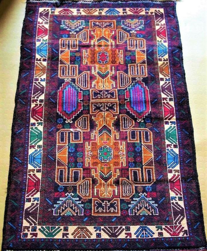 Royal Gulab Series Handmade Afghan Rug