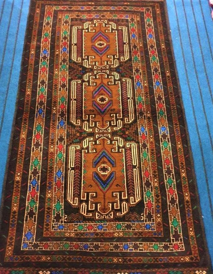 Hand Knotted Ancient Tribal Afghan Rug