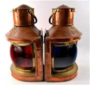 Pair of Victorian ships port and starboard copper