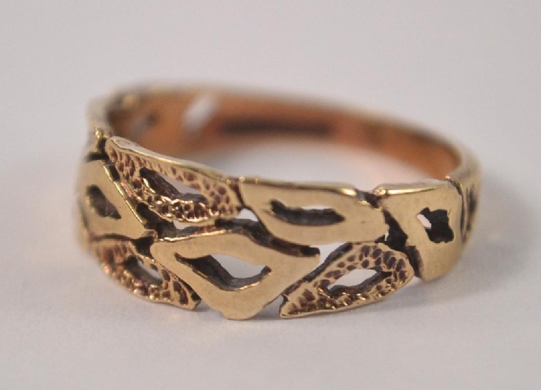 9ct gold pierced design ring