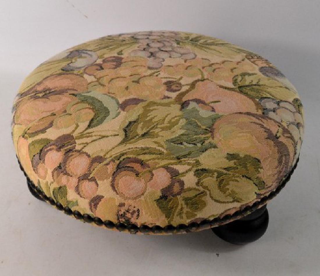 Tapestry upholstered stool