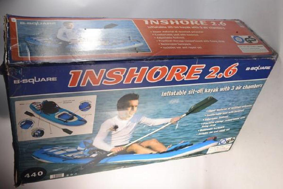 Boxed inshore 2.6 kayak boxed and unused