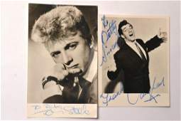 Signed vintage photo cards of TOMMY STEELE English teen