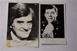 Signed vintage photo cards of ANDY STEWART famous