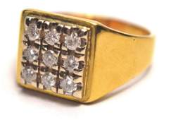 ABSOLUTE BLING Modern rectangular Diamond set 18