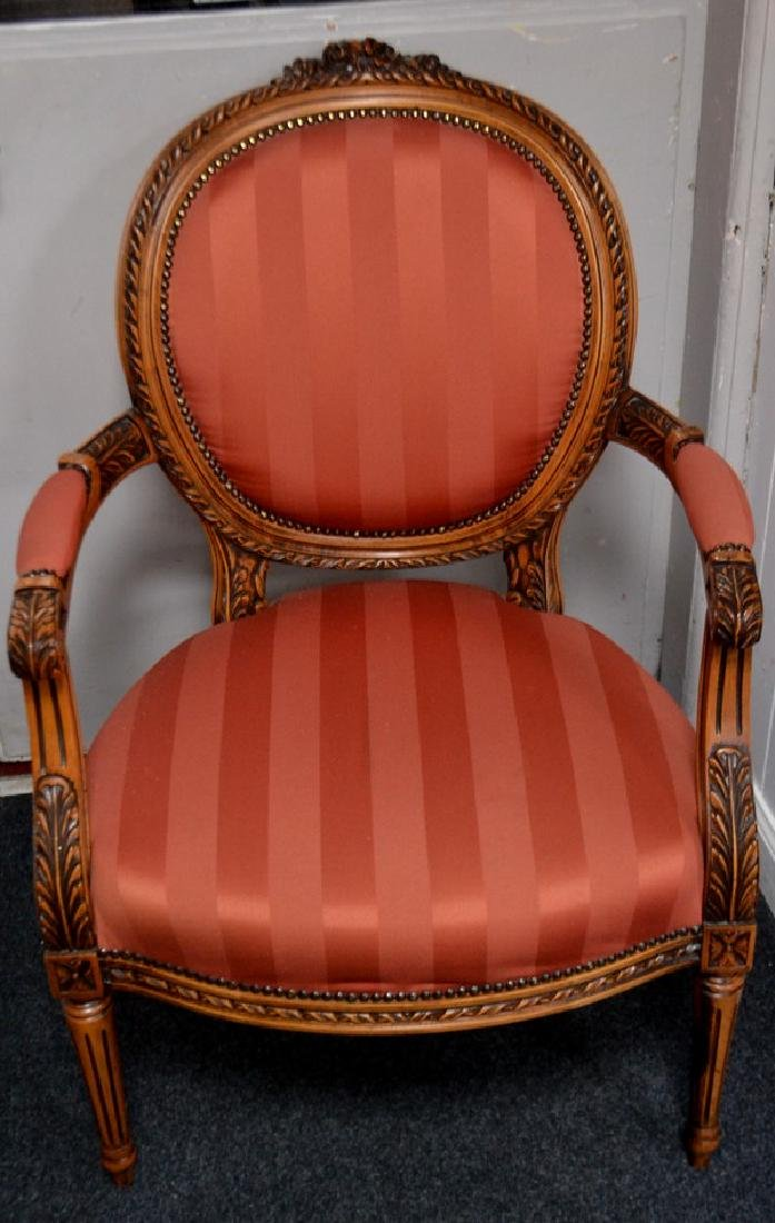 Pair of open armchairs - 2