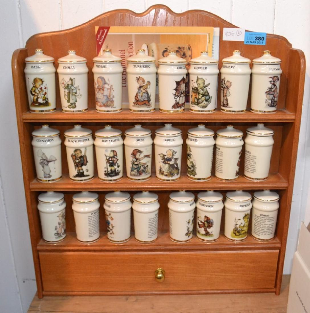 THE HUMMEL SPICE JAR COLLECTION with it's wall stand,