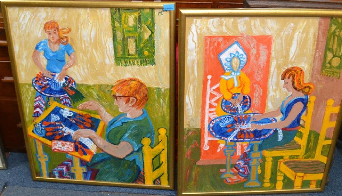 Pair of original Acrylic painting by Lady Lucinda