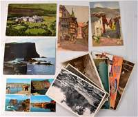 Old Vintage Postcards to include Bridge Road Colinton