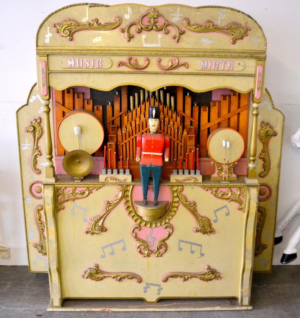 A large hand-built fairground organ, requires only a