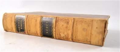 LOCAL INTEREST SIR WALTER SCOTT part leather bound 'The