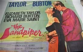 STUNNING! Taylor and Burton Sandpiper 1965 cinema UK