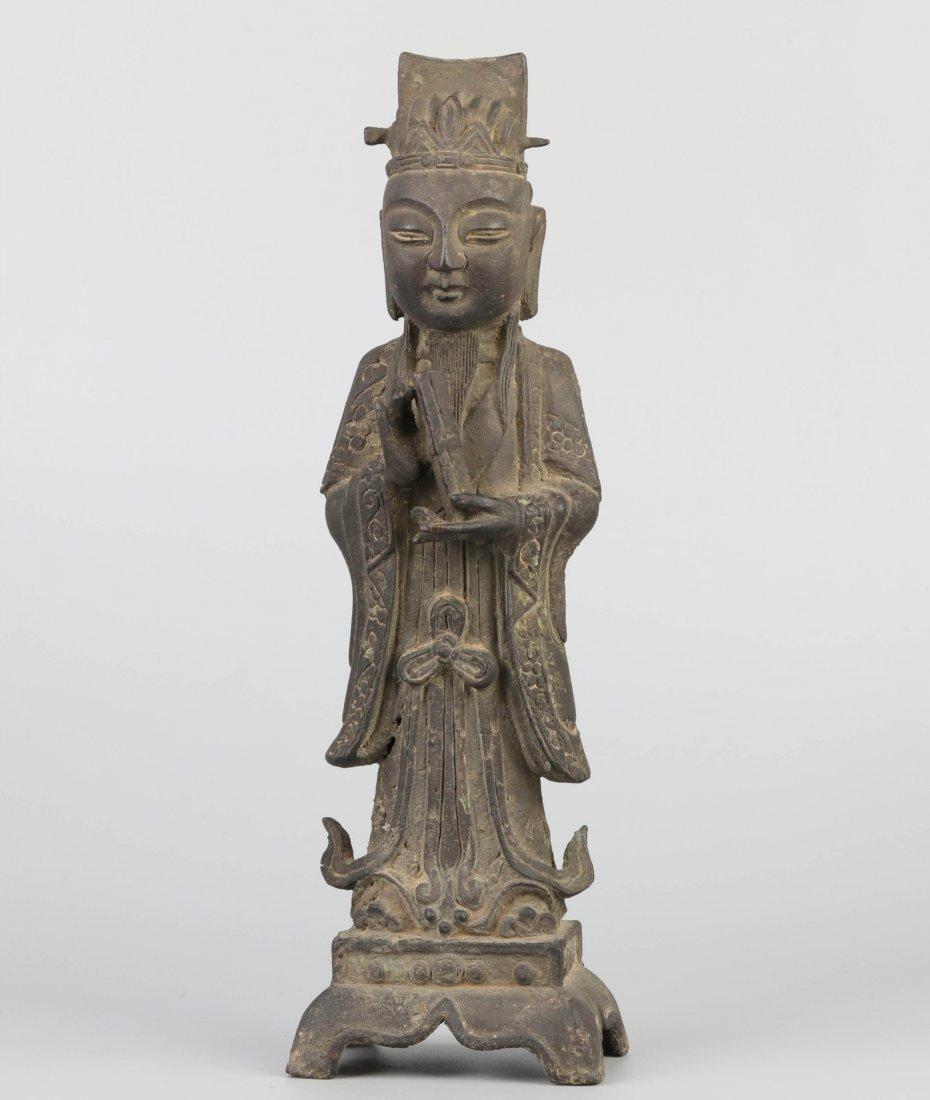 Ming Dyn. Bronze Immortal Statue