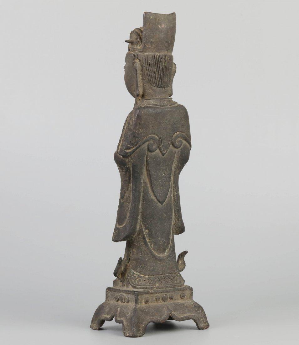 Ming Dyn. Bronze Immortal Statue - 3