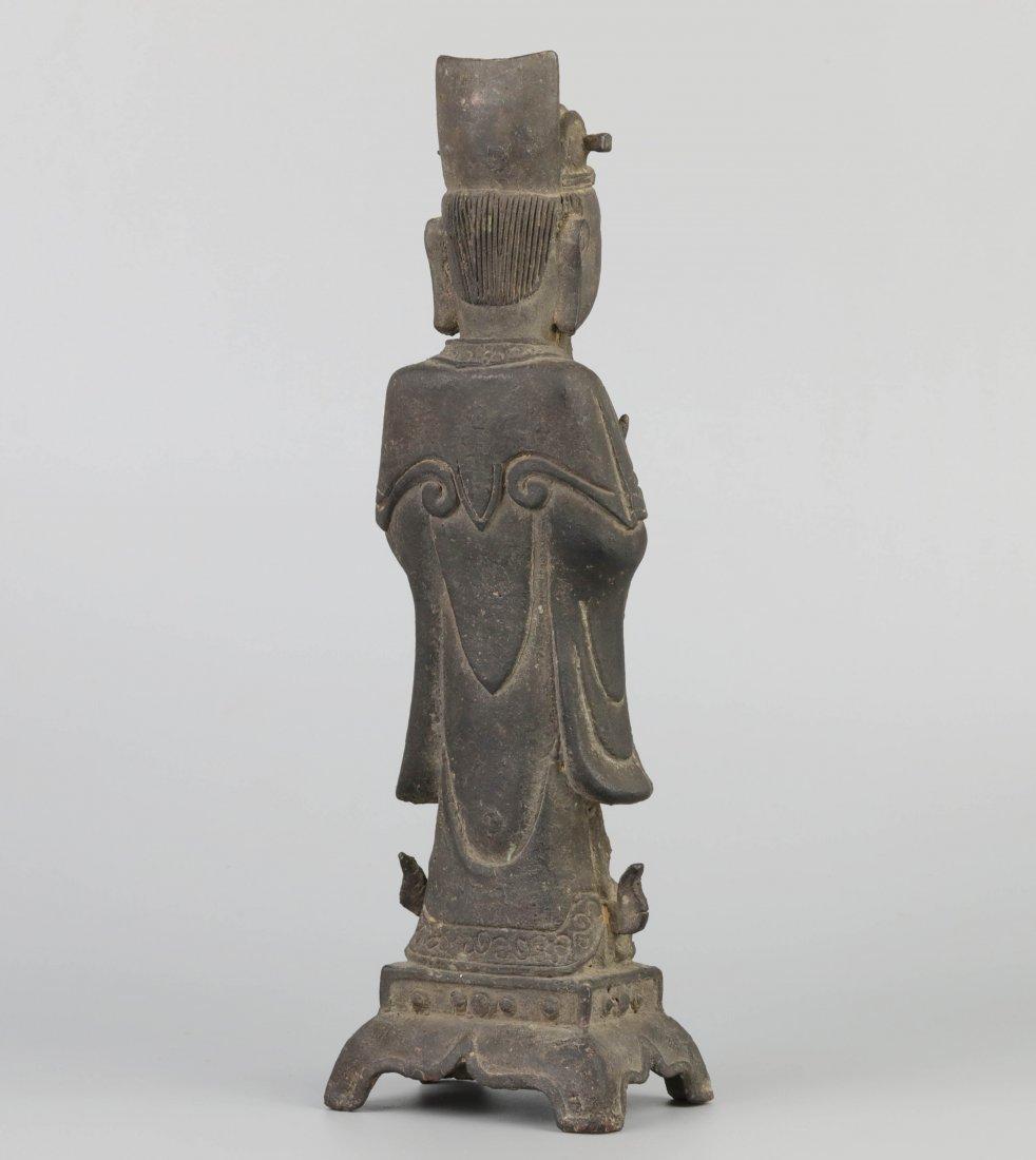 Ming Dyn. Bronze Immortal Statue - 4