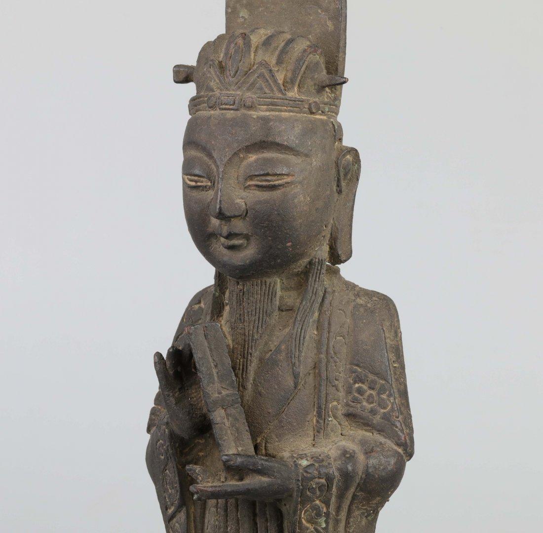 Ming Dyn. Bronze Immortal Statue - 6
