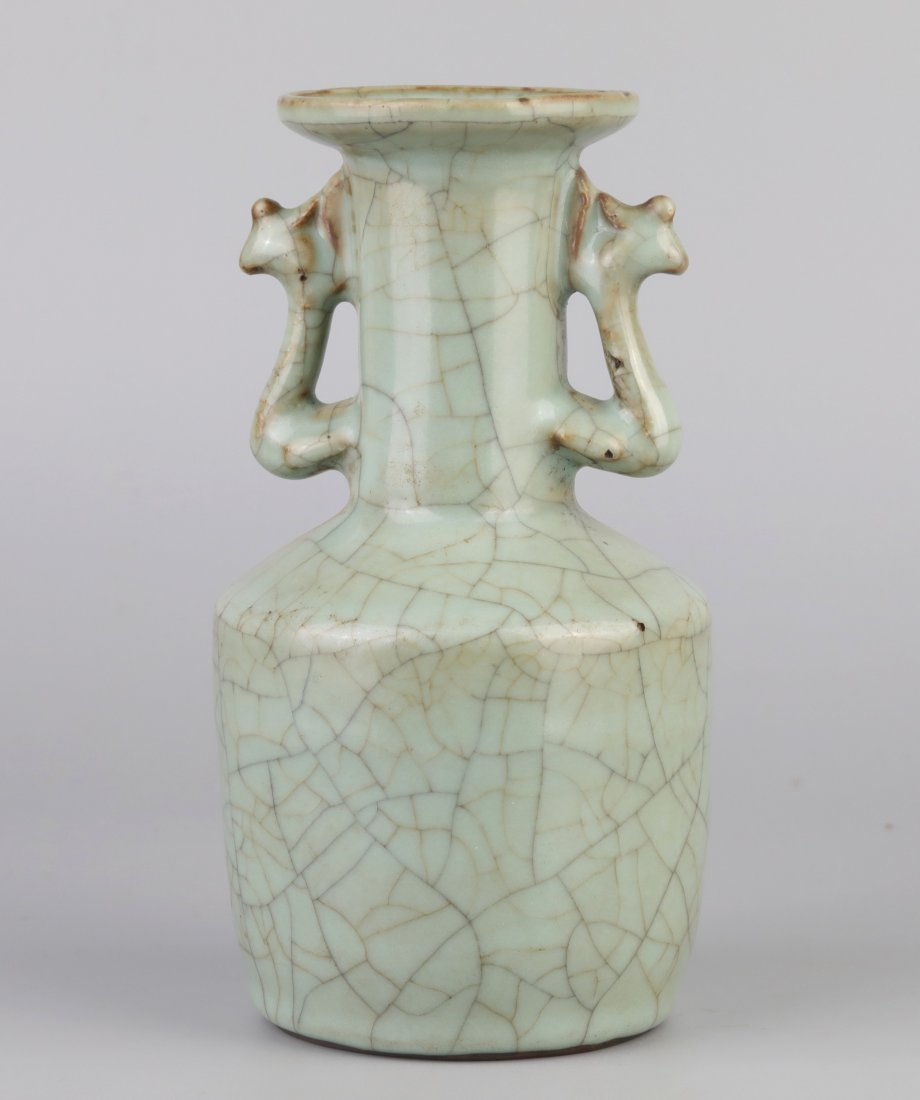 """Ge-Type"" Crack Glazed Vase (Song Dynasty);"