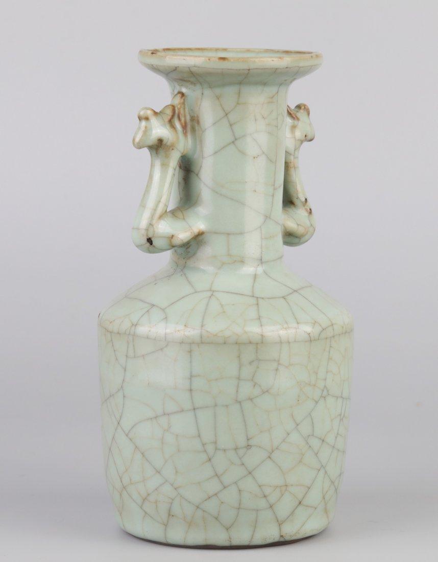"""Ge-Type"" Crack Glazed Vase (Song Dynasty); - 3"