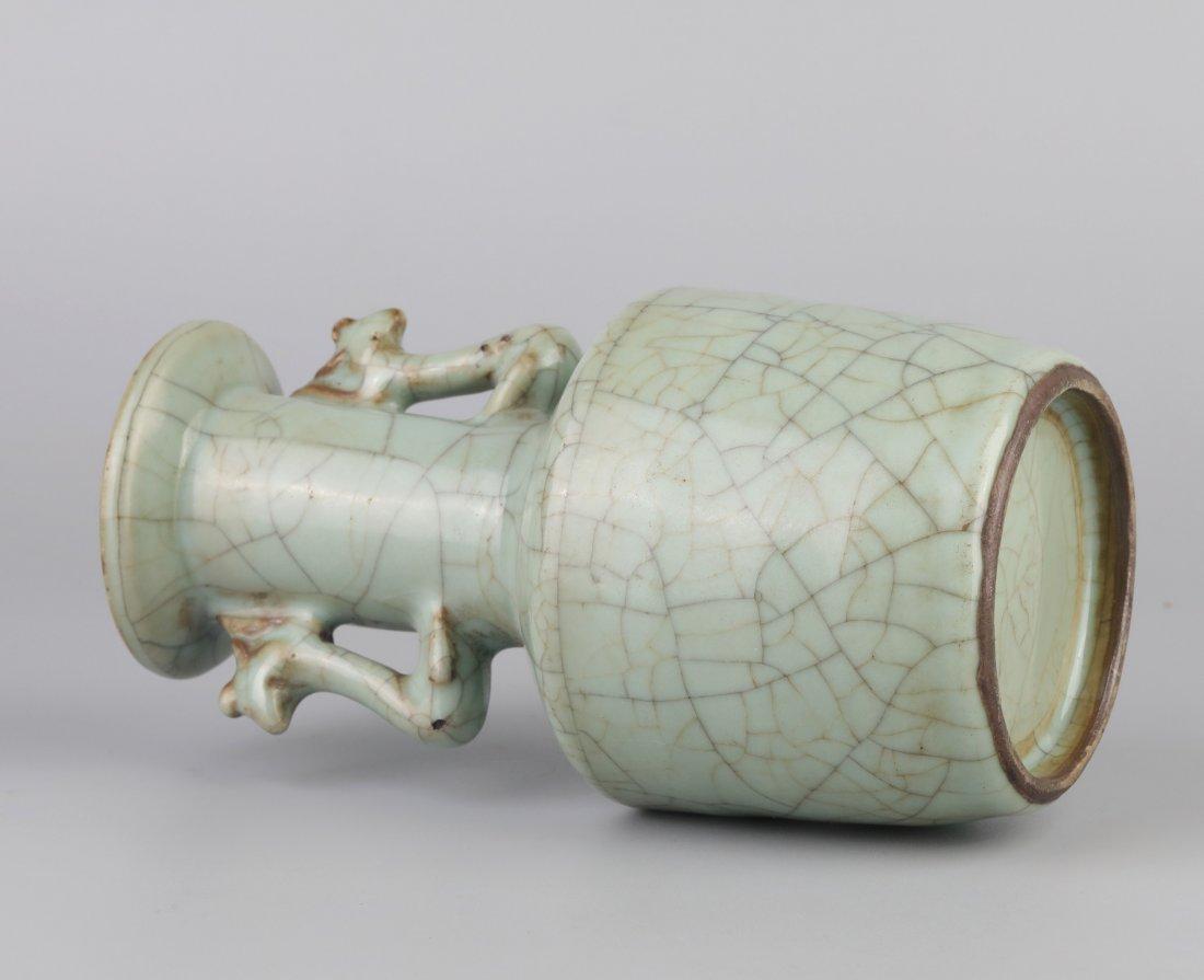 """Ge-Type"" Crack Glazed Vase (Song Dynasty); - 4"