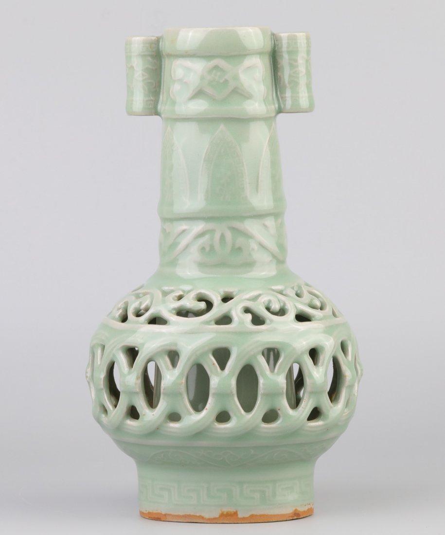 """Longquan"" Celadon Vase (Song Dynasty)"