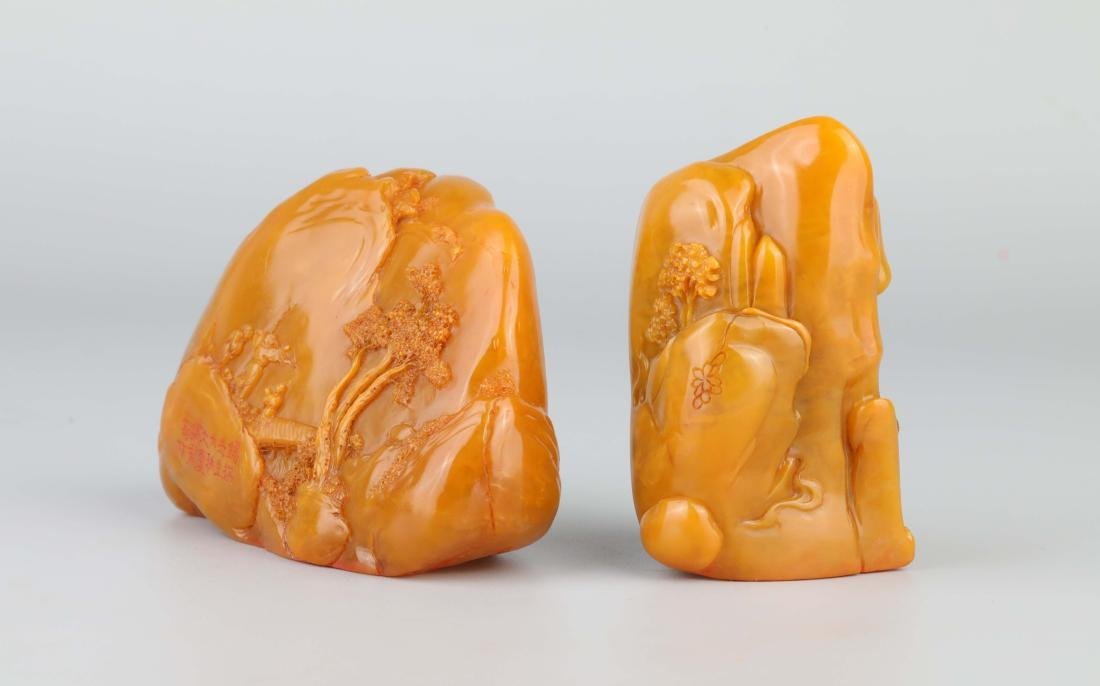PAIR OF TIANHUANG STONE SEALS - 4