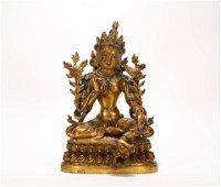 A PAIR OF GILT BRONZE BUDDHA STATUES