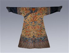 A CHINESE VINTAGE  EMBROIDERY EMPEROR'S ROBE