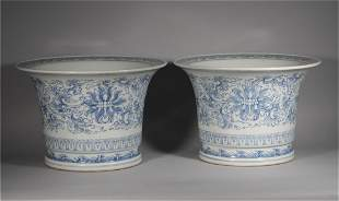 A PAIR OF CHINESE PORCELAIN PLANTERS
